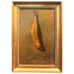1824 Fish Still Life Painting