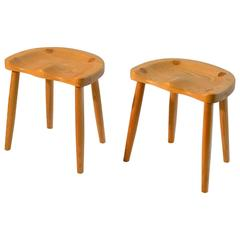 Studio Stools in Blond Wood by Robert Roakes, USA, 1970s