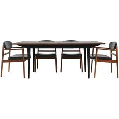 George Nelson Rosewood Dining Table and Chair Set