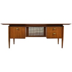 Finn Juhl Double Pedestal Desk by Baker