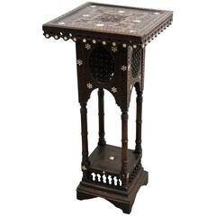 Syrian Moorish Inlaid Pedestal