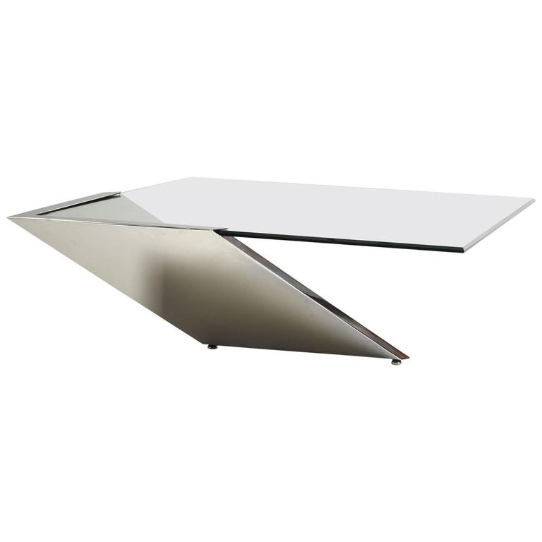 Stunning Late 1990s Brueton Cantilever Coffee Table For Sale At 1stdibs