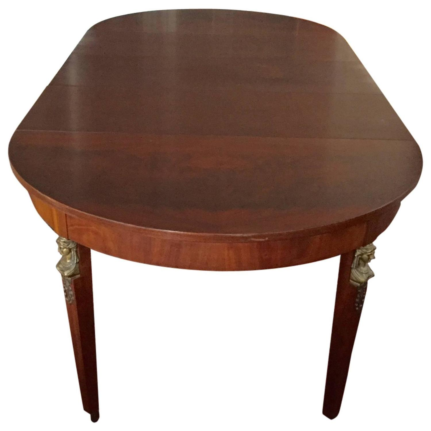 Vintage baker table with three leaves at 1stdibs for 3 leaf dining room tables
