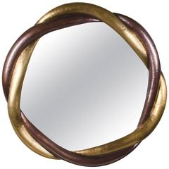 Trinity Mirror, Brass and Copper, Hand Repoussé, Limited Edition