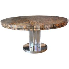 Karl Springer Tessellated Horn Dining Table