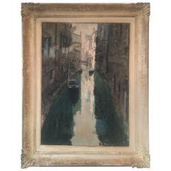 Painting of Venetian Scene Signed Lower Left