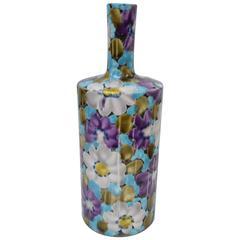 Floral Italian Ceramic Vase