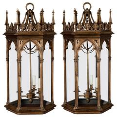 Pair of Gothic Revival Lanterns