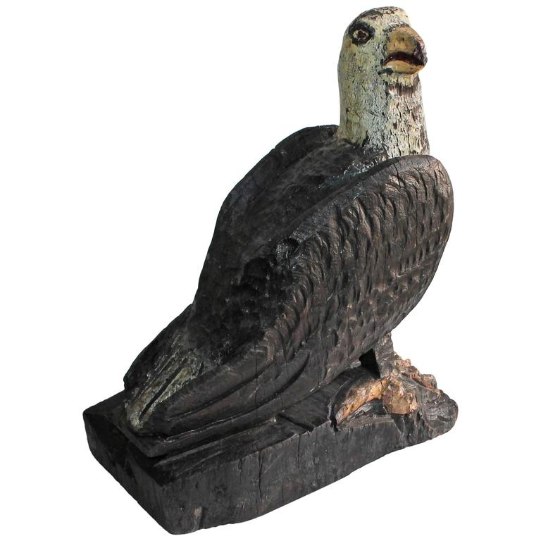 Hand-Carved and Painted Eagle