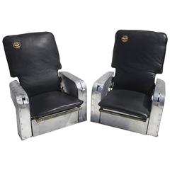 Aircraft Chairs in Leather and Aluminum