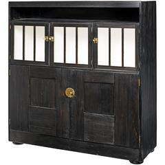Josef Hoffmann School Cabinet in Black Stained Wood, Austria, 1910