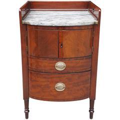 Late George III or Early Regency Gentleman's Bed Side Cupboard