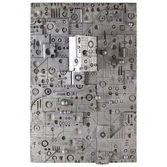 Large Wall Panel Cast Metal Vivid Details Puzzle Secret Door
