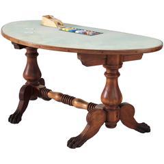 American Black Jack Game Table in Mahogany