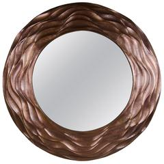 Sui Ola Mirror, Antique Copper, Hand Repoussé, Limited Edition