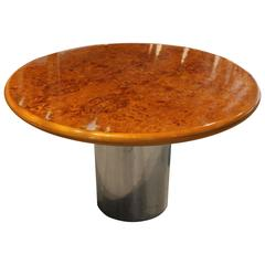 Gorgeous Burl Wood Center Table Attributed to Milo Baughman