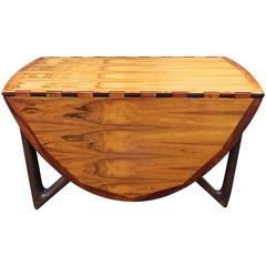 Exceptional 1960s Kurt Ostervig Danish Modern Bleached Rosewood Dining Table