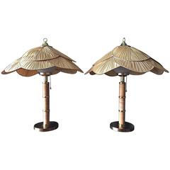 Pair of Large Scandinavian Table Lamps