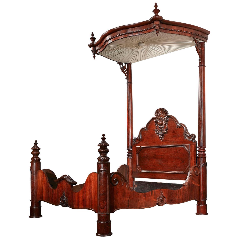 - Prudent Mallard Half-Tester Bed At 1stdibs