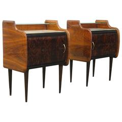 Pair of Two-Tiered Nightstands Attributed to Vittorio Dassi