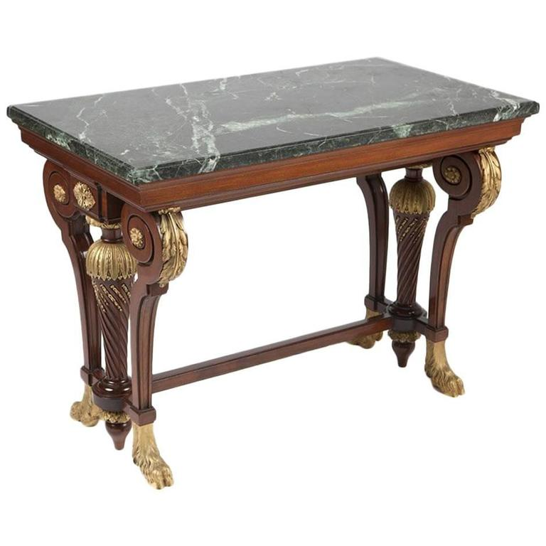 Ormolu-Mounted Mahogany Center Table Signed Krieger