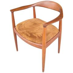 Hans Wegner Armchair, The Chair, Teak by Johannes Hansen, Stamped