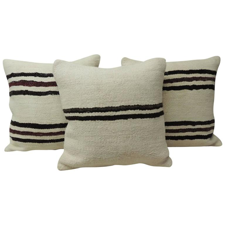 Modern Kilim Pillows : Modern Pattern Vintage Kilim Pillows at 1stdibs