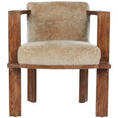 Cerused Oak Armchair