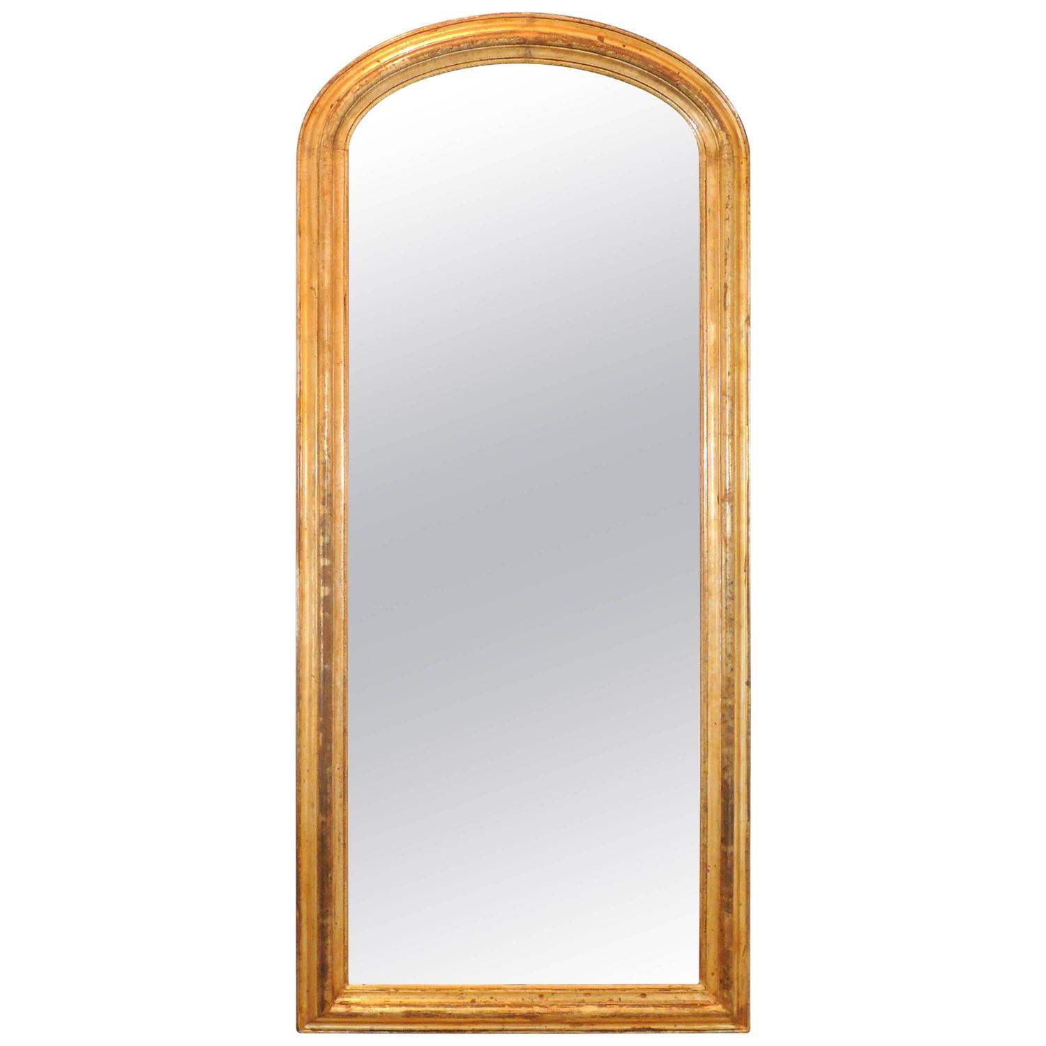 Oval arched full length 19th century mirror for sale at for Floor length mirror for sale