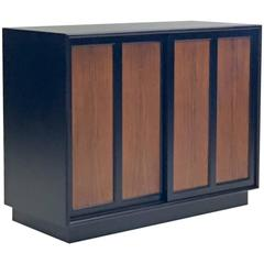 Rosewood and Black Lacquer Server Buffet by Harvey Probber
