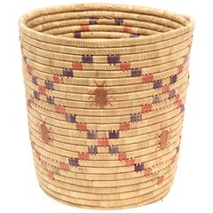 Native American Coiled Basket, Inuit 'Eskimo,' Early 20th Century