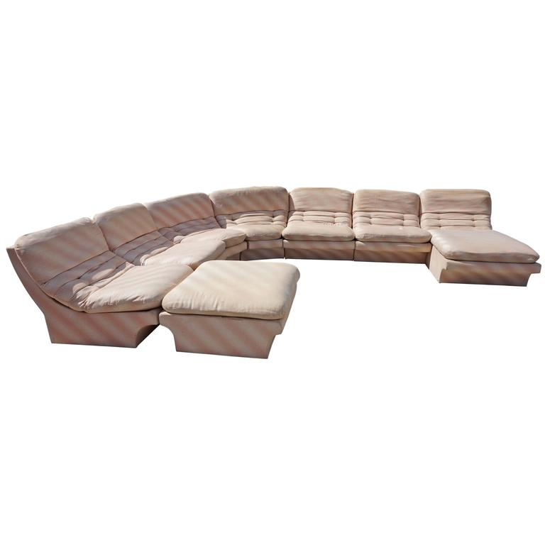 Awesome Eight Part Sectional Sofa By Preview style of Vladimir