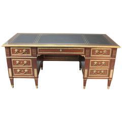 Antique French Executive Desk Bureau Plat