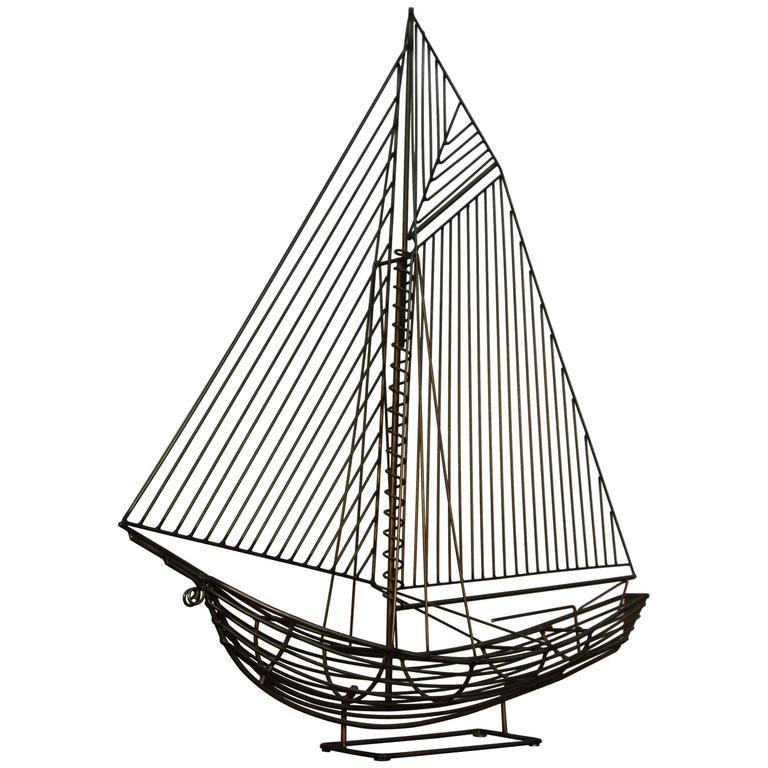Jere Wire Boat Sculpture