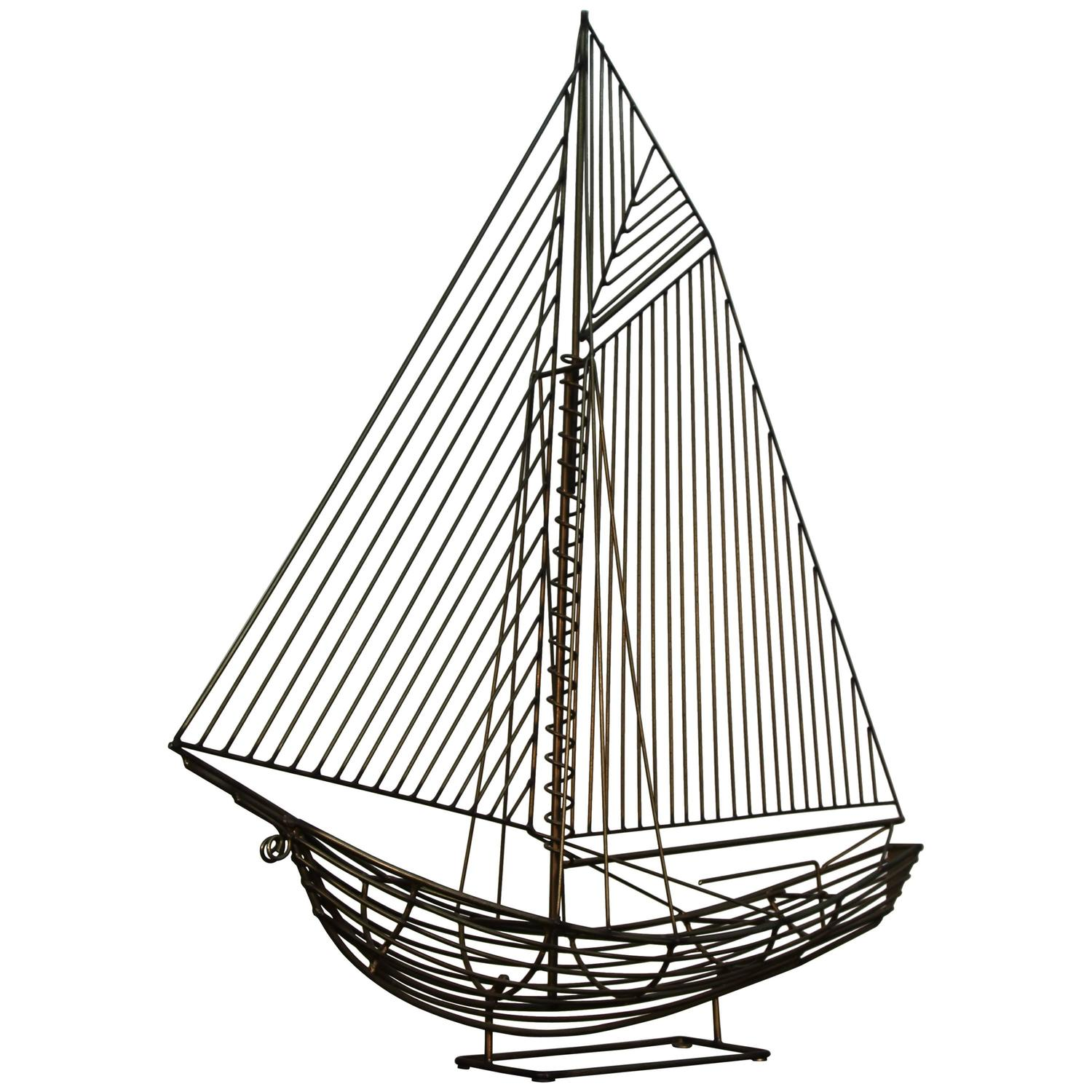 jere wire boat sculpture for sale at 1stdibs