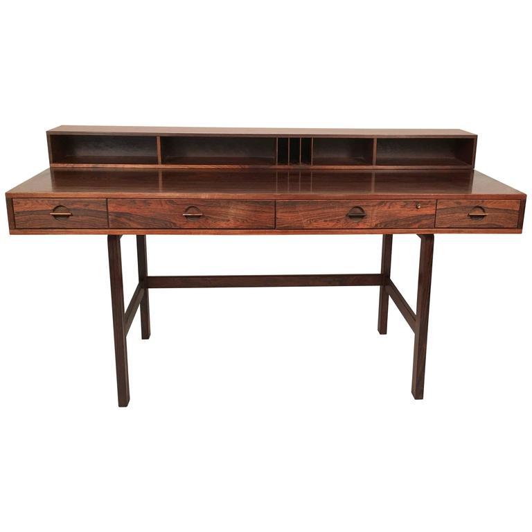 sleek danish modern peter lovig nielsen rosewood desk, circa 1970