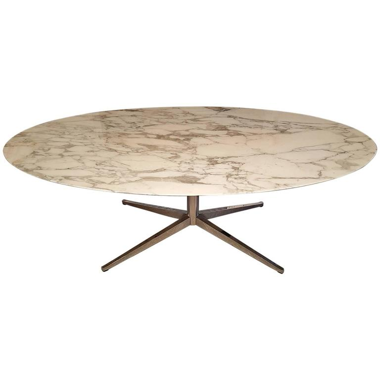 Florence Knoll Carrara Marble Dining Table For