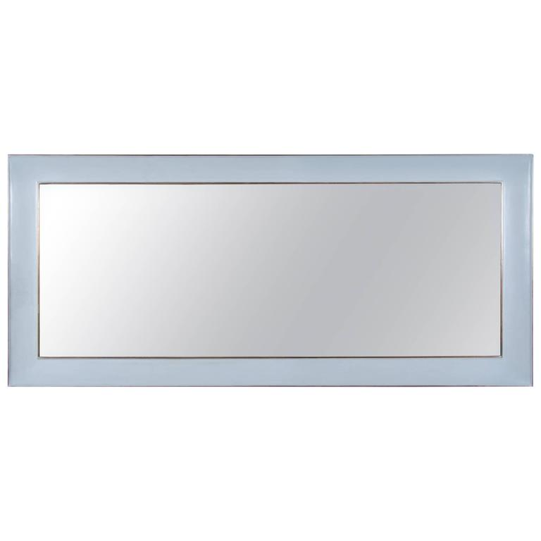 Full Length Vanity Mirror with Copper Trim by Robert Kuo, Limited Edition