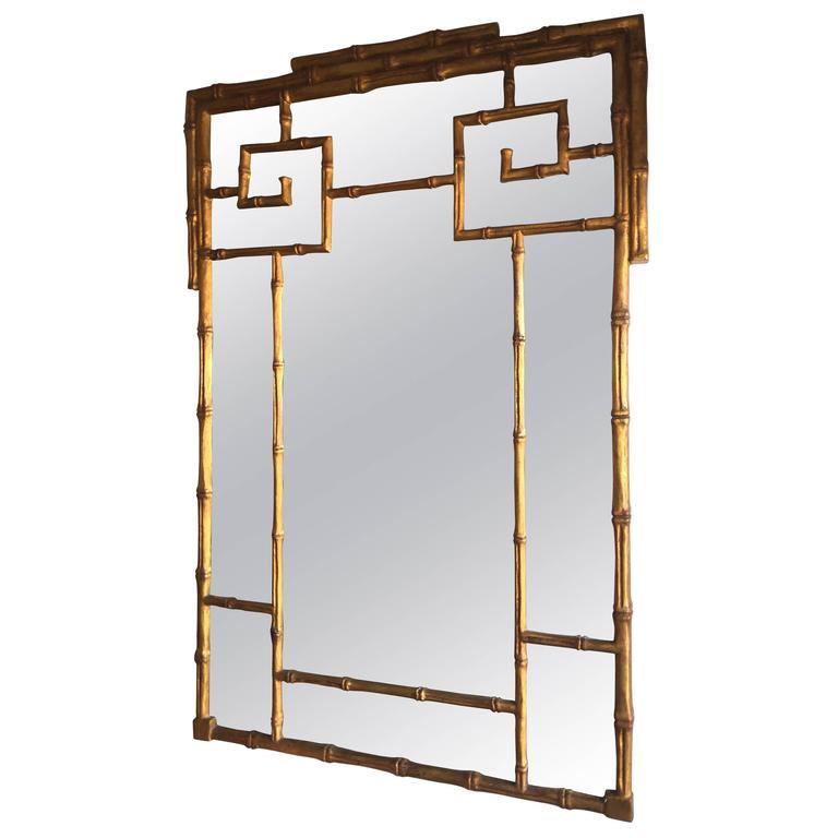 hollywood regency greek key mirror at 1stdibs