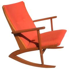 Soren Georg Jensen Teak Rocking Chair for Kubus