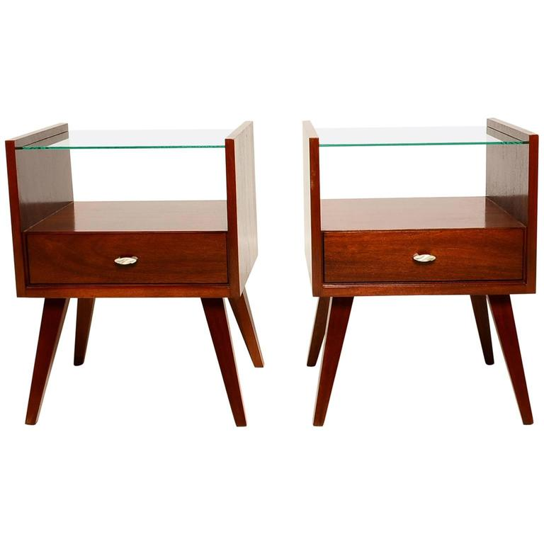 Pair of mid century modern nightstands by mengel raymond for Modern nightstands for sale