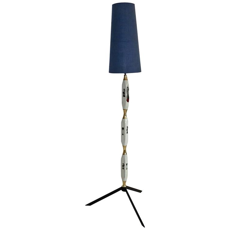 1950s Italian Ceramic Floor Lamp For Sale At 1stdibs