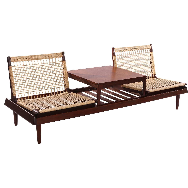 Hans Olsen Modular Sofa Table and Chairs at 1stdibs