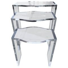 "Lucite Nesting Tables by Charles Hollis Jones, from the ""Routed Line"""