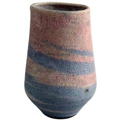 Vase with Volcanic Glaze by Lucie Rie