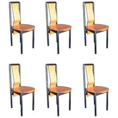 Set of Six Pierre Cardin Dining Chairs
