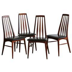 """Set of Four Teak """"Eva"""" Dining Chairs by Niels Koefoed for Koefoed Hornslet"""