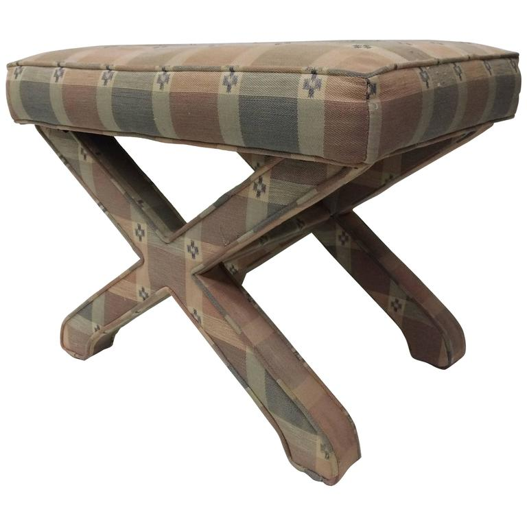 Mid-Century X Stool by Billy Baldwin