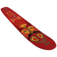 Bentwood Tiki Surfboard, circa 1920s, All Original