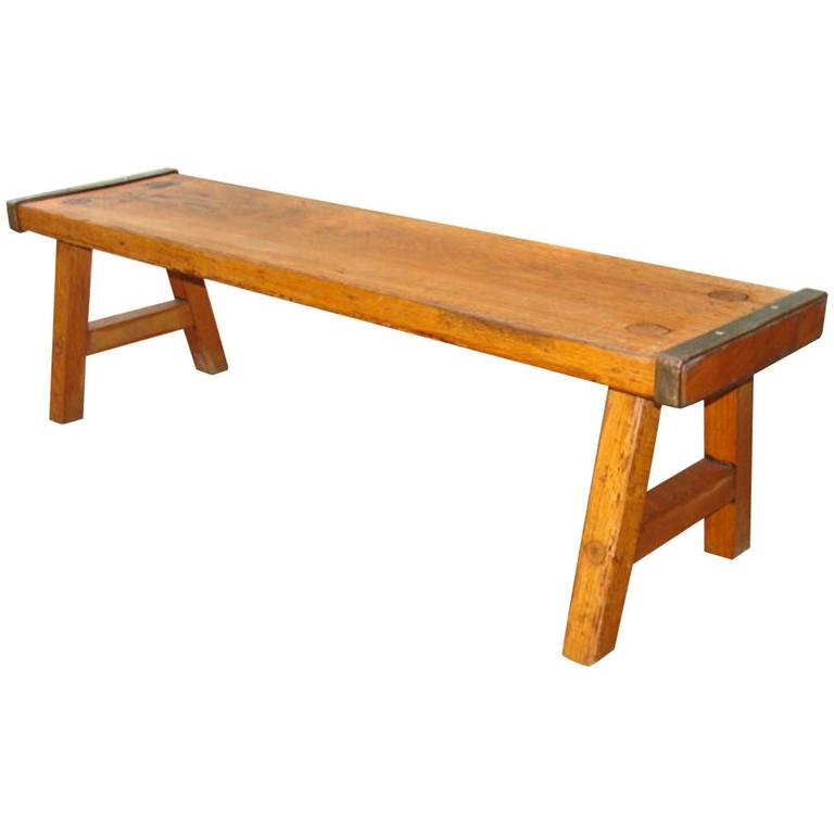 Coffee Table Train Set Sale: Antique Oak Low Table/Bench At 1stdibs